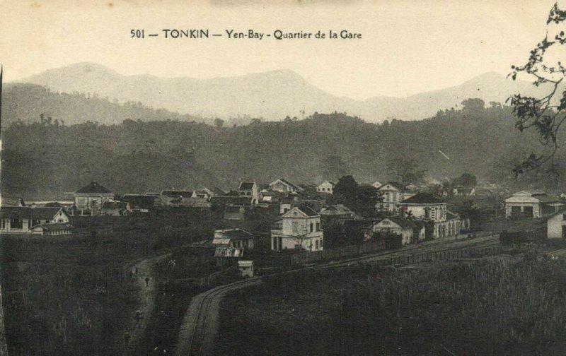 CPA AK VIETNAM Tonkin Yen-Bay - Quartier de la Gare (62166)