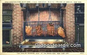 Linen, Brass Rail Restaurant, New York City, NYC Postcard Post Card USA Old V...