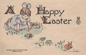 EASTER : Child & eggs , PU-1910