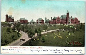 Owatonna, Minnesota Postcard STATE SCHOOL FOR ORPHANS Orphanage 1907 Cancel