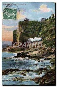 Old Postcard Menton Rochers Rouges