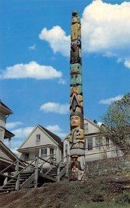 Giant Frog Downtown Juneau, Alaska Totem Pole Unused