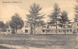 Pittsford Vermont Sanatorium Street View Antique Postcard K88877