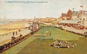 MORECAMBE LANCASHIRE UK~WINTER GARDENS~POSTCARD 1912