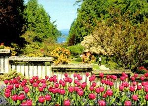 Canada British Columbia Victoria Butchart Gardens Ocean View