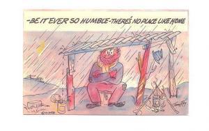 Tony Roy Cartoon, Be It Ever So Humble, Homeless, Club Discount Toronto, Ontario
