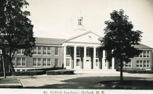 NY - Oxford. Oxford Academy    *RPPC