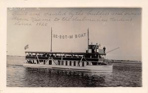 Miami Florida~Se-Bot-M Boat~Excursion Ship~Eureka II~1930s Real Photo~RPPC