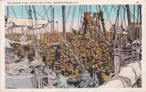 TARPON SPRINGS, Florida, 00-10s; The Sponge Fleet after the catch