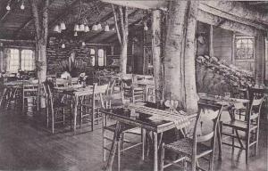 Vermont Rutland Long Trail Lodge -Dining Room With Rock Garden Albertype