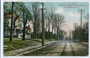 Asheboro Street Looking South Greensboro North Carolina 1909 postcard