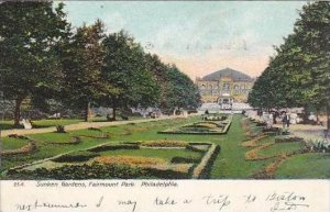 Pennsylvania Philadelphia Sunken Gardens Fairmount Park 1908 Artvue
