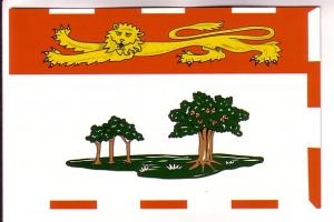 Full Postcard Picture of Provincial Flag, Prince Edward Island