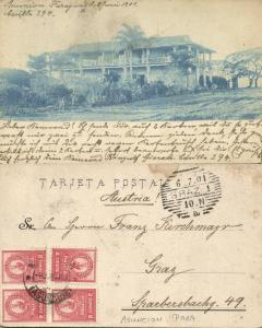 paraguay, ASUNCION, Unknown Villa (1901) Stamps