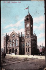 Ontario City Hall HAMILTON - pm1908 - Divided Back
