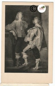 Vintage Postcard Lord John and Lord Bernard Stuart, oil by Thomas Gainsborough