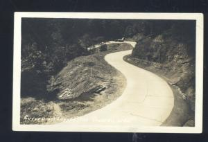 RPPC RUIDOSO WEST VIRGINIA CURVES ON HIGHWAY VINTAGE REAL PHOTO POSTCARD