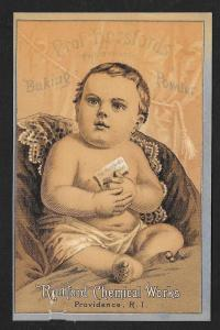 VICTORIAN TRADE CARD Prof Horsford's Baking Powder Baby