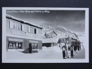 Switzerland: l'`hiver a'l Alpe showing Sports Shop & Esso Petrol Station RP PC
