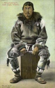 russia, SIBERIA, East Cape, Kit-Le-Lourigen, Eskimo Siberian Yupik Yuit Man 1909