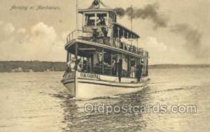 Okobji, Arriving at Manhattan, USA Ferry Boats, Ship, Ships, Postcard Post Ca...