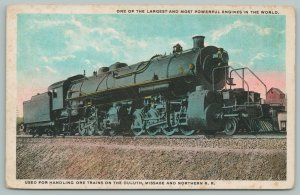 Minnesota~Duluth Missabe & Northern RR~One of the Most Powerful Engines~c1920 PC