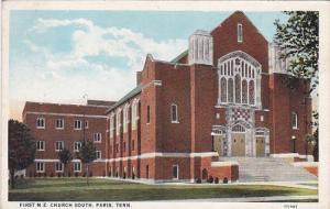 Tennessee Paris First M E Church South