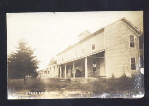 RPPC CLEARFIELD NEW YORK STONY LAKE LODGE VINTAGE REAL PHOTO