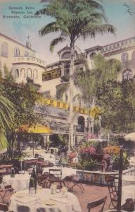California Riverside Spanish Patio Mission Inn  Handcolored Albertype