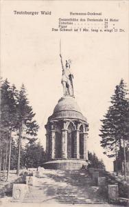 TEUROBURGER WALD, Hermanns-Denkmal, Lower Saxony, Germany, PU-1919