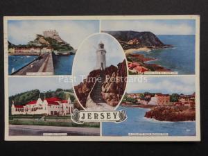 Channel Islands: JERSEY 5 image Multiview WEST PARK PAVILION c1958 Old Postcard