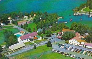 Vermont Lake Champlain Aerial View Of Basin Harbor Club