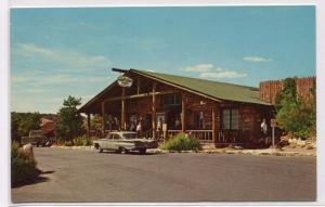 Bright Angel Lodge Entrance Grand Canyon National Park Arizona 1960s postcard