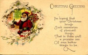 Greeting - Christmas, Santa Claus (Red Suit)