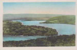 Connecticut New Preston Lake Waramaug From Pinnacle Mountain Albertype