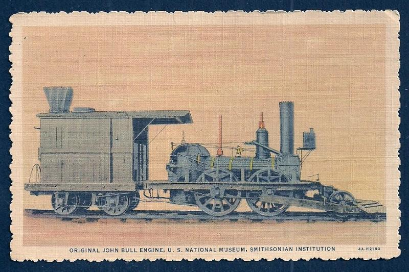 John Bull Engine @ Smithsonian DC unused c1934