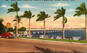Florida Bradenton Green Bridge Connecting Palmetto and Bradenton Looking Nort...