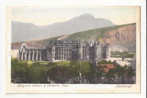 UK Scotland Edinburgh Holyrood Palace and Arthur's Seat Postcard