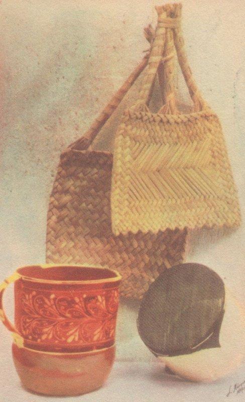 Mexican Popular Arts Handbag Mexico Old Painting Postcard