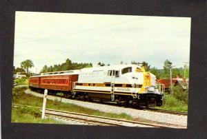 ME Bangor & and Aroostook Railroad Train Engine 557 Brownville Maine Postcard