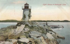 MAINE, 1900-10s ; Lighthouse at Cobbossee Lake