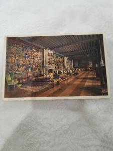 Antique postcard Tapestry Gallery - The Flemish Tapestries Biltmore House