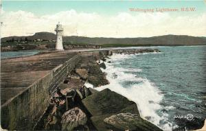 Vintage Postcard; Wollongong Lighthouse New South Wales Australia Posted