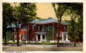 Concord, New Hampshire - A view of the City Library - c1920