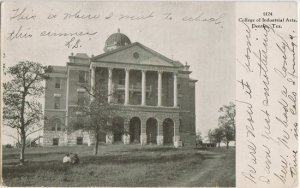 DENTON TX - Old Main Bldg / TEXAS WOMENS COLLEGE 1907 - much larger NOW !
