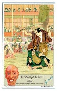 1933 Kabuki, Japanese Theater Liebig Belgian Trade Card *VT32C