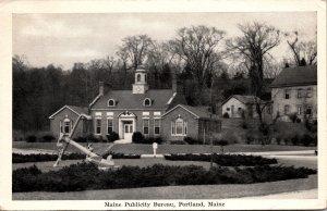 Portland ME Maine Publicity Bureau Postcard used 1947