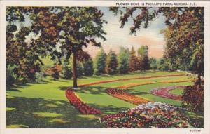 Illinois Aurora Flower Beds In Phillips Park Curteich