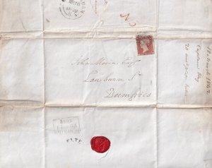 Cheltenham Gloucester Solicitors Dumfries Postmark 1842 Victorian Penny Red Lett