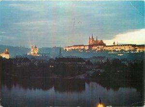 Postcard CZECH REPUBLIC Praha prague castle palace architecture church towers
